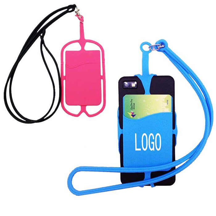Silicone Mobile Pocket with String