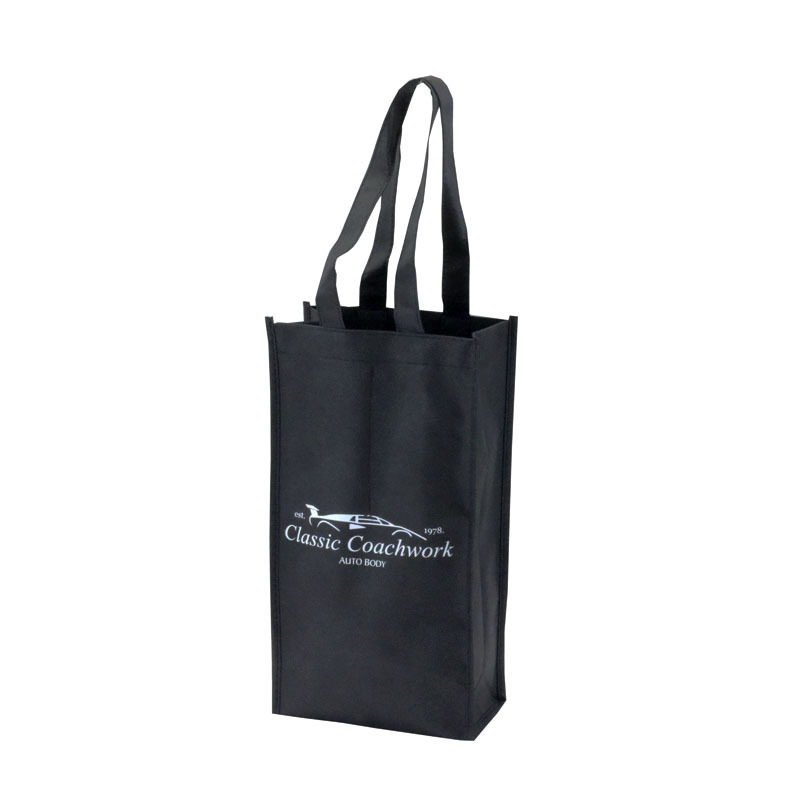 Promotional 2 Bottles Non-Woven Wine Bag