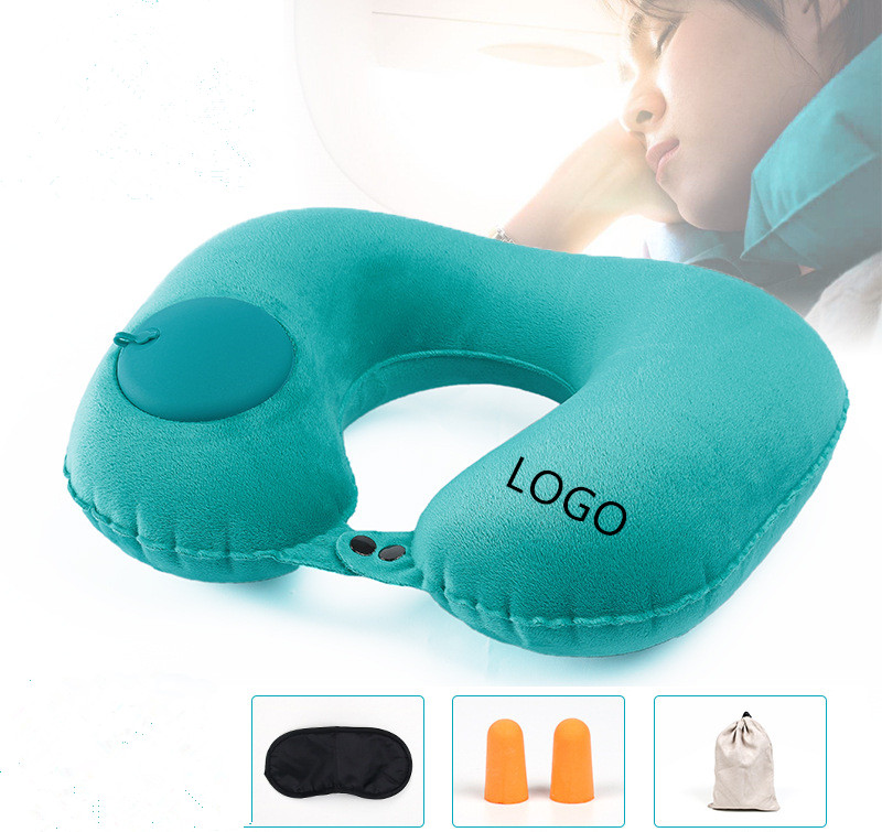 U Shape Press Type Inflatable Portable Pillow