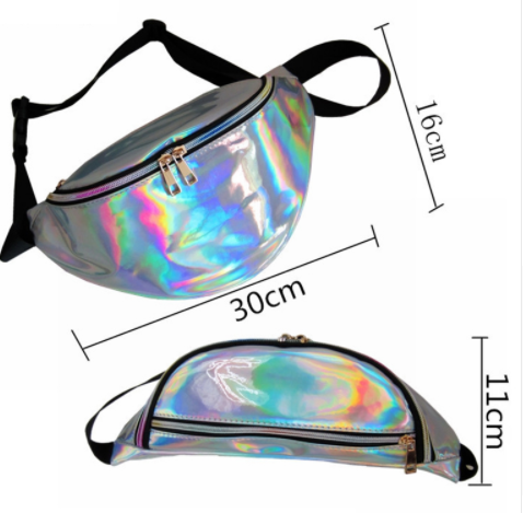 2019 Fashion Holographic Fanny Pack/ Waterproof Waist Bag