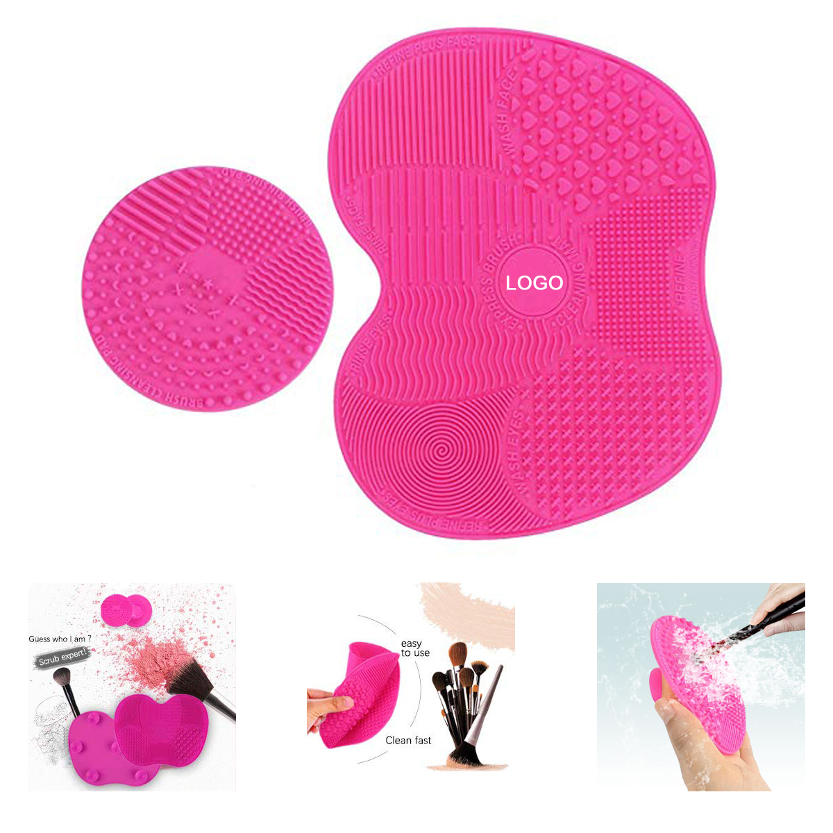 2019 New Makeup Brush Cleaner Mat 2 pcs