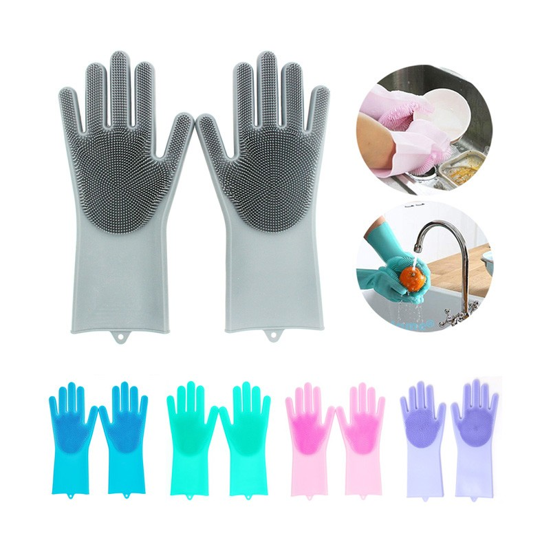 2019 Hot Sale Multi-function Silicone Cleaning Washing Gloves