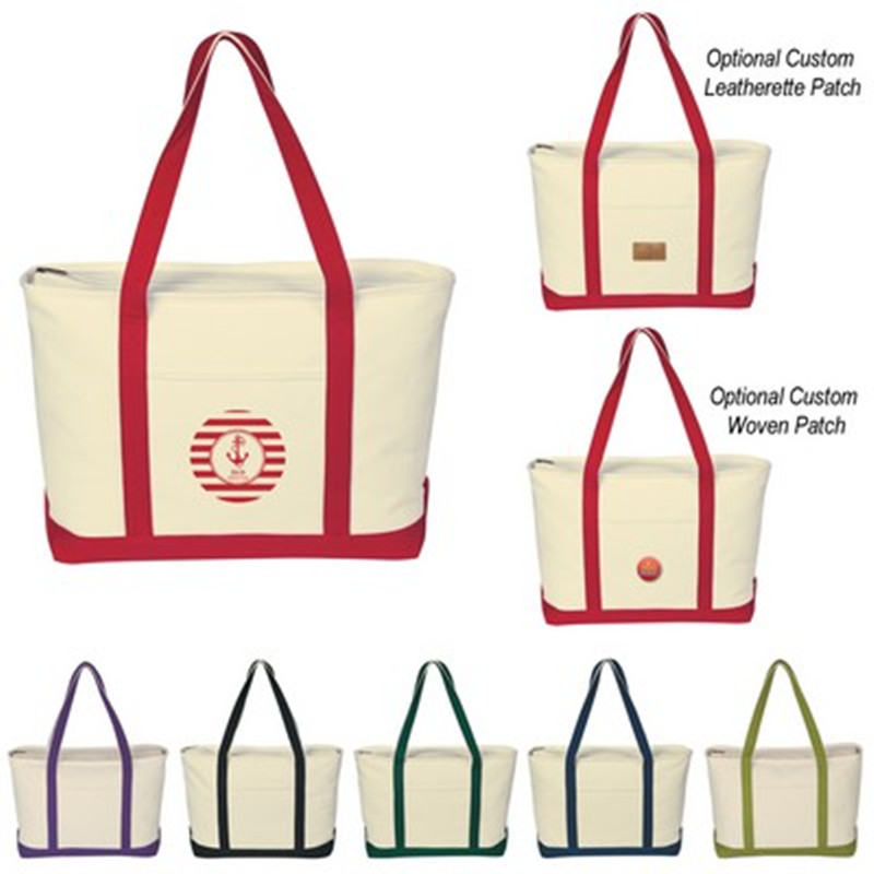 2019 Quick Seller Large Heavy Cotton Canvas Boat Tote Bag