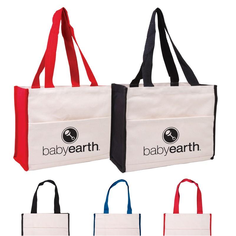 2019 Quick Seller Cotton Gusset Accent Box Tote Bag