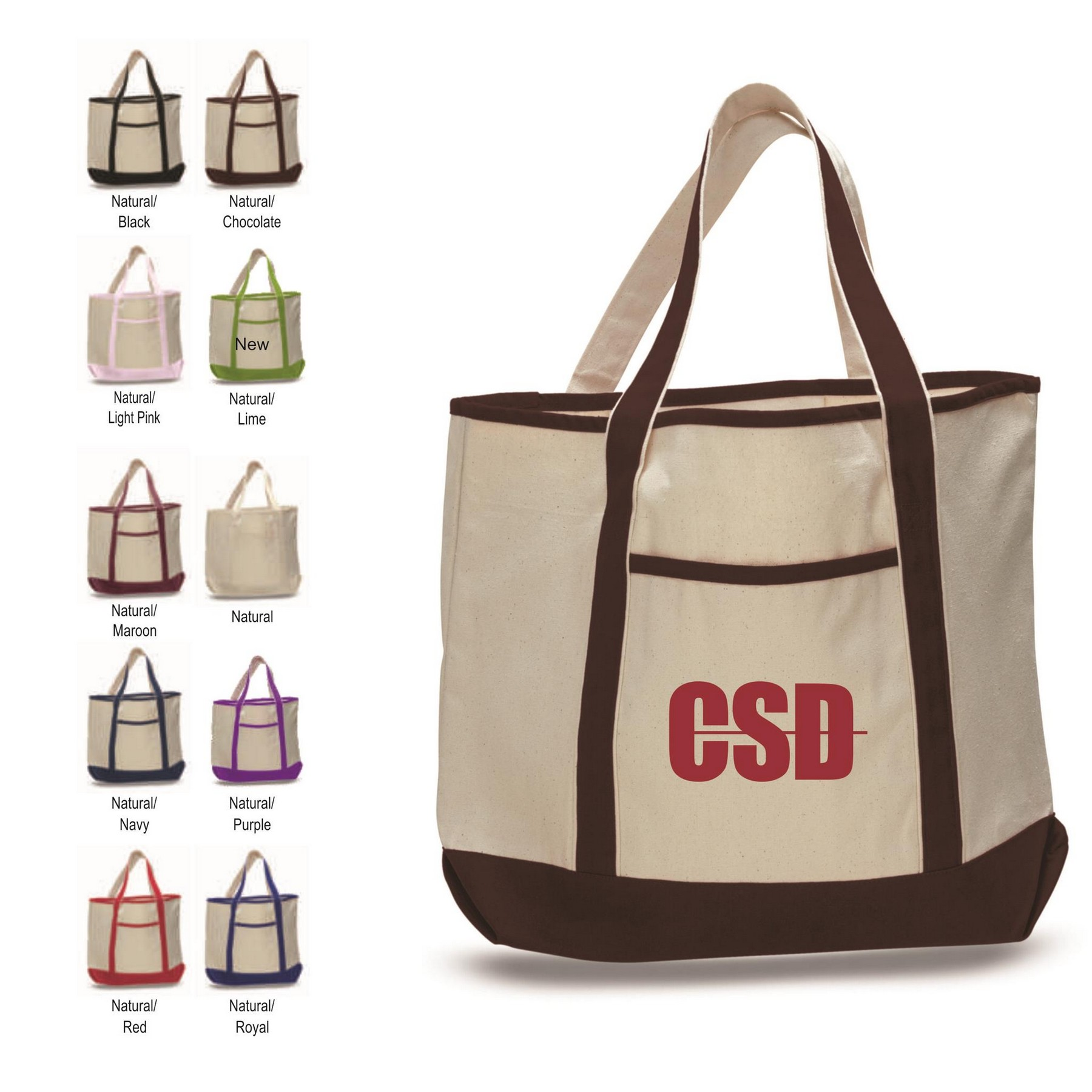 2019 Quick Seller Q-Tees Large Canvas Deluxe Cotton Tote Bag