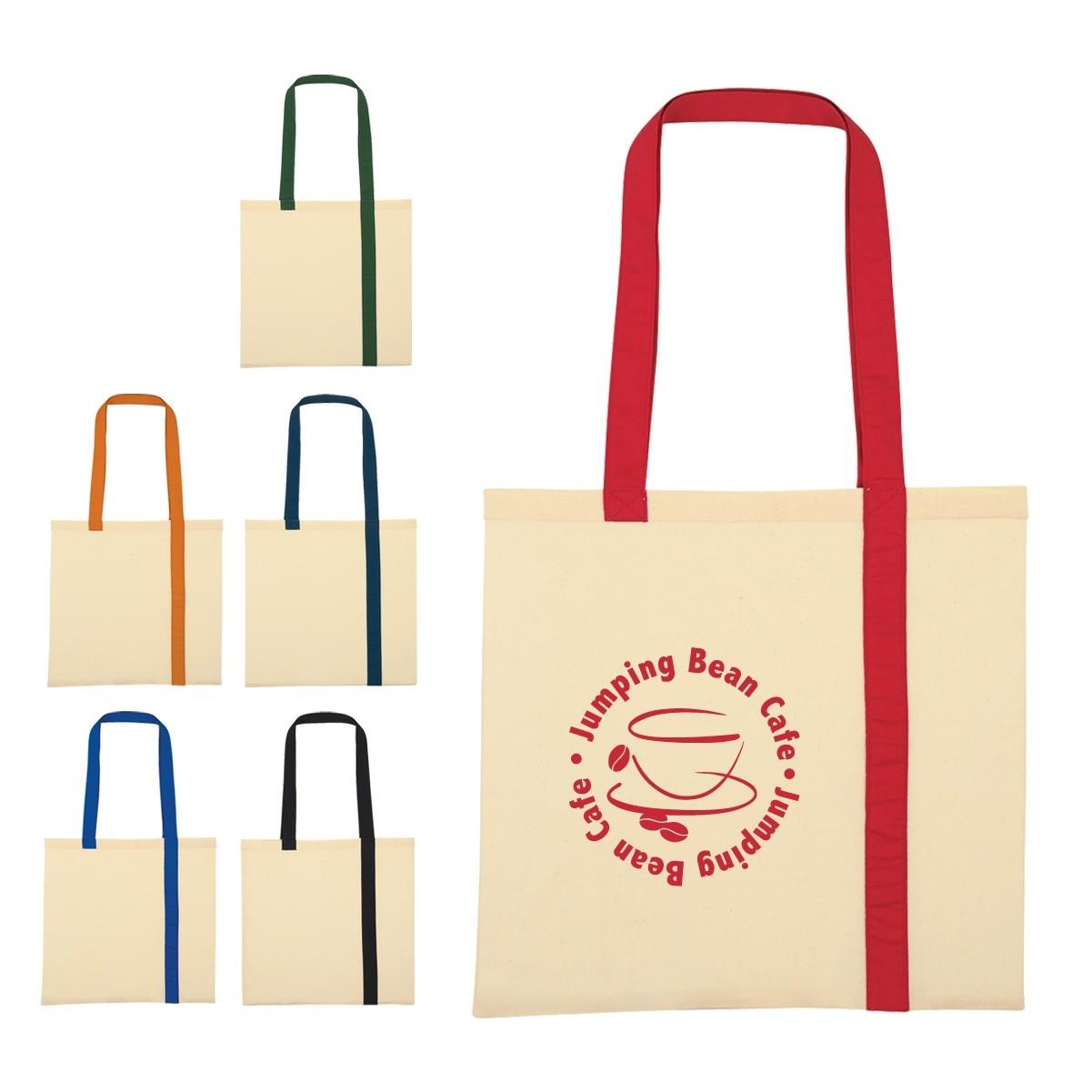 2019 Quick Seller Striped Economy Cotton Canvas Tote Bag