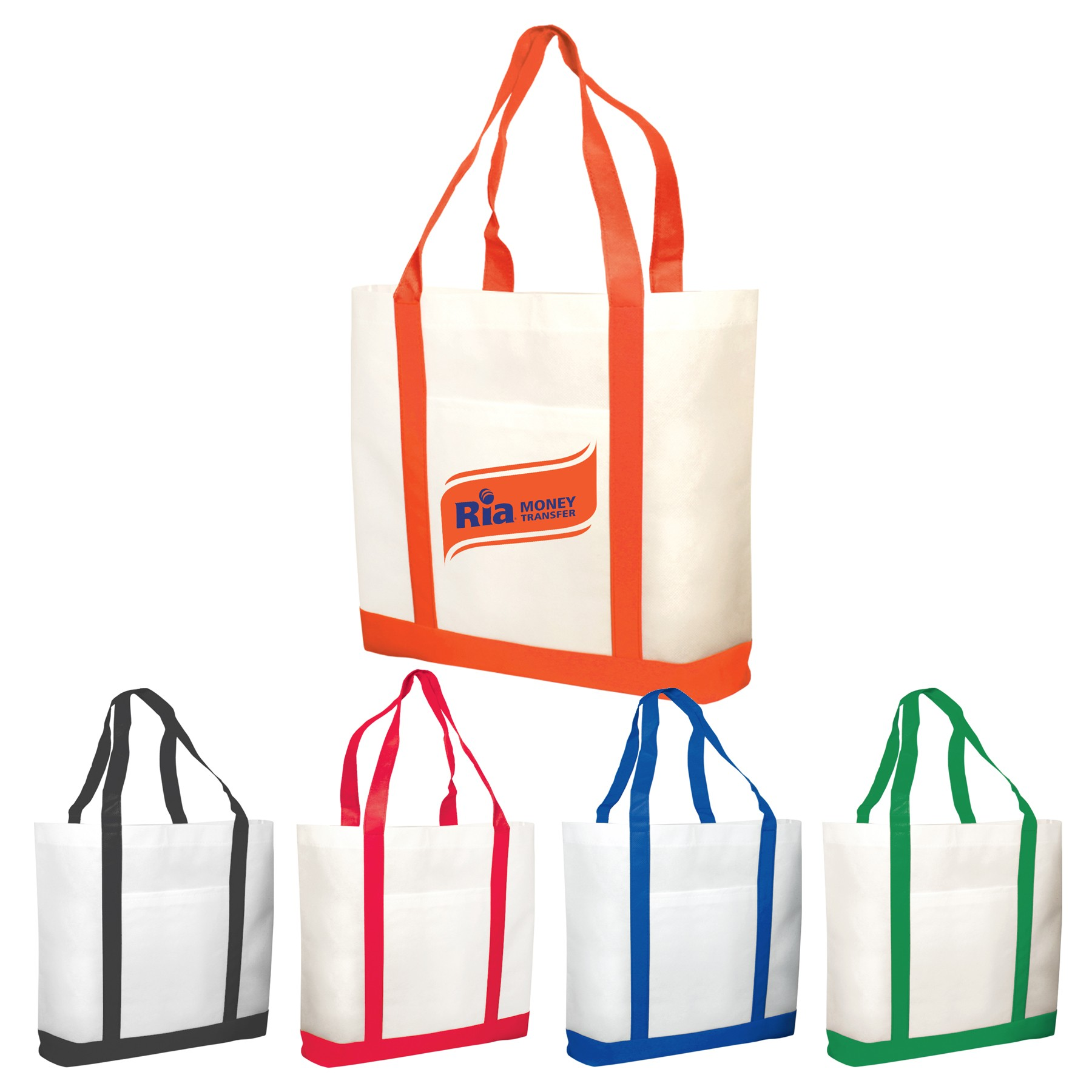 Promotional Two Tone Shopping Tote Bags