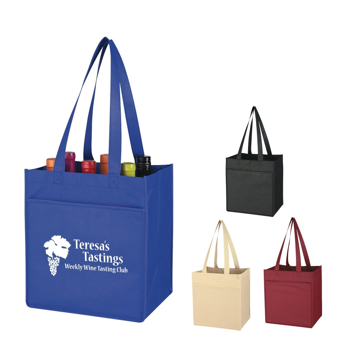 Promotiona 6 Bottle Wine Tote Bag