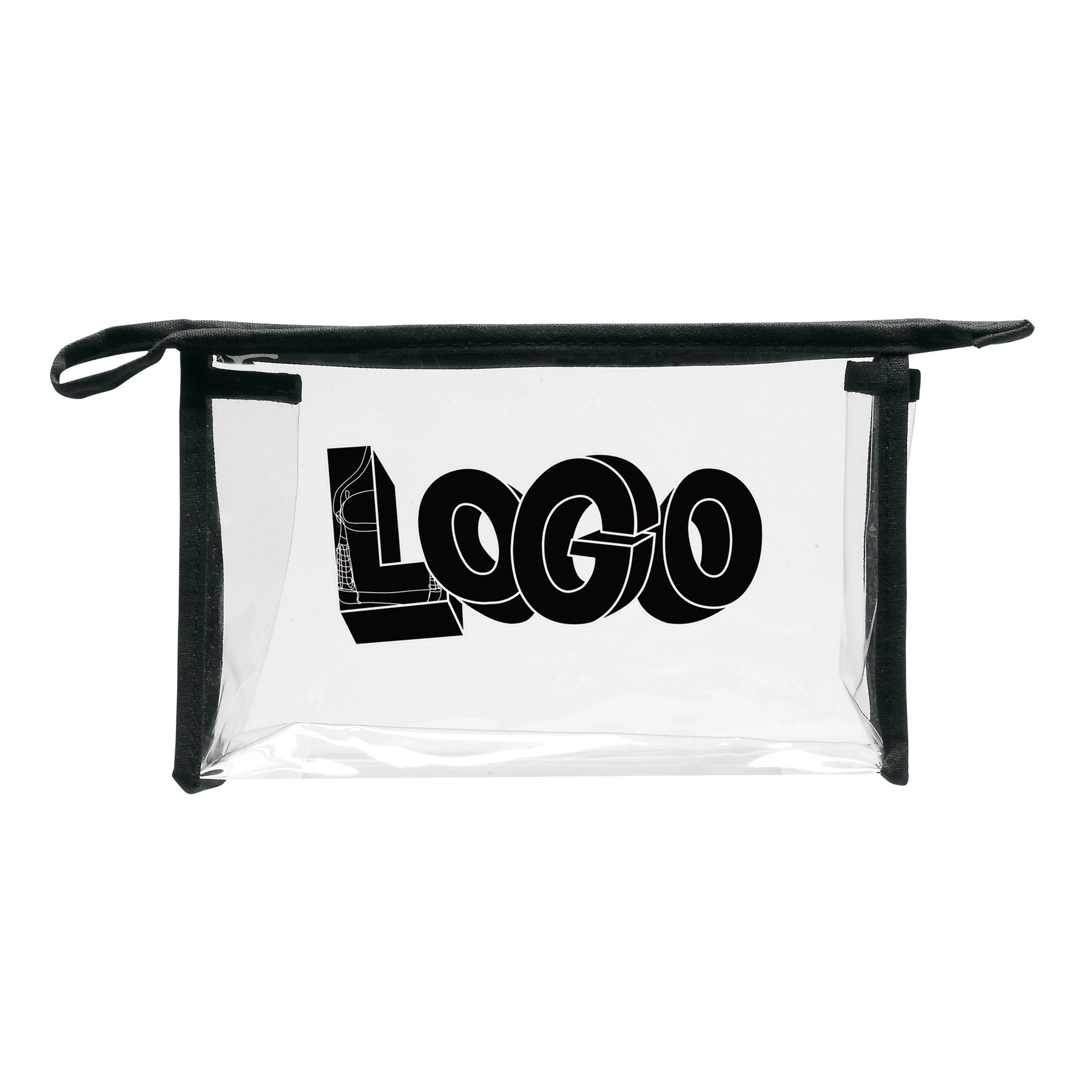 Transparent Zip Cosmetic Bag