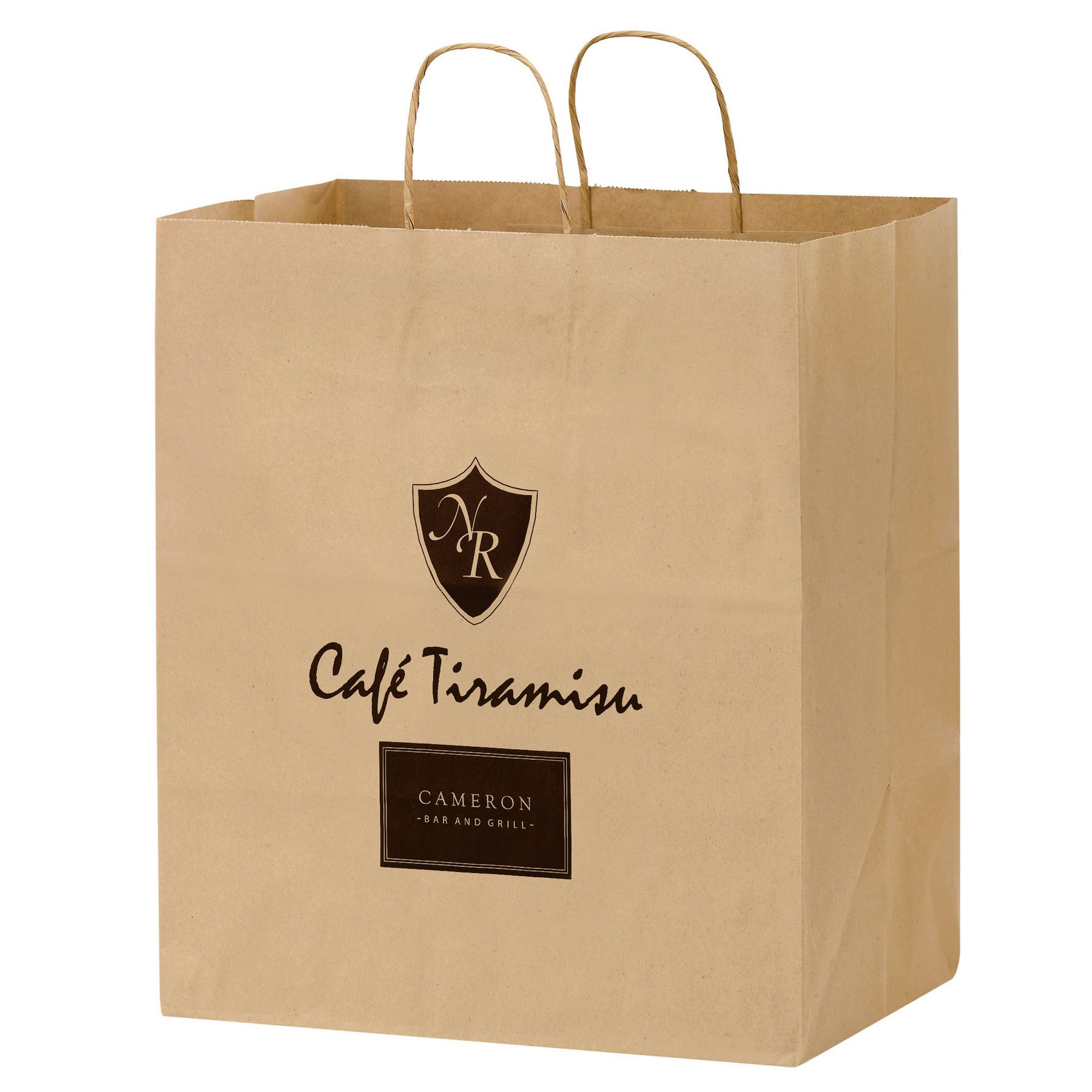 Natural Kraft Paper Carry-Out Bag
