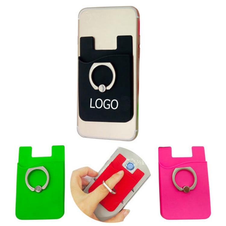 Silicone Wallet Phone Ring Holder