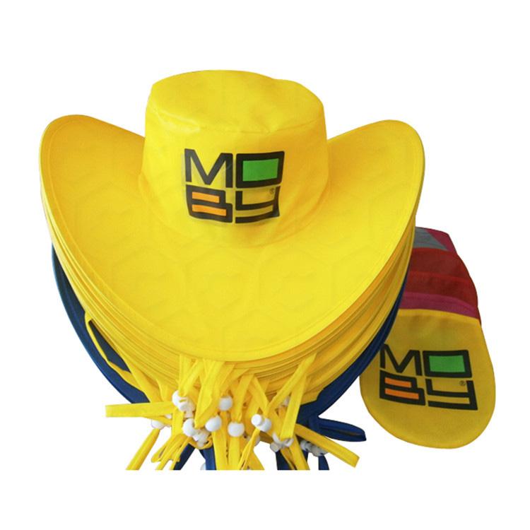 Nylon Coloful Folded Cowboy Hat
