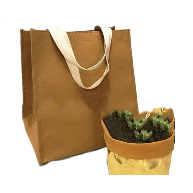 Water-Washable Kraft Paper Shopping Bag