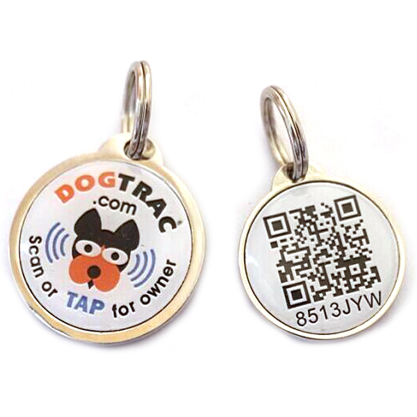 Unique QR code PET dog identification lost tracking epoxy NF