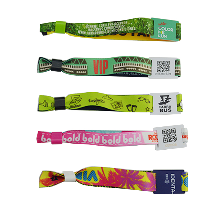 13.56M Ultralight Custom Printing NFC Fabric Wristband
