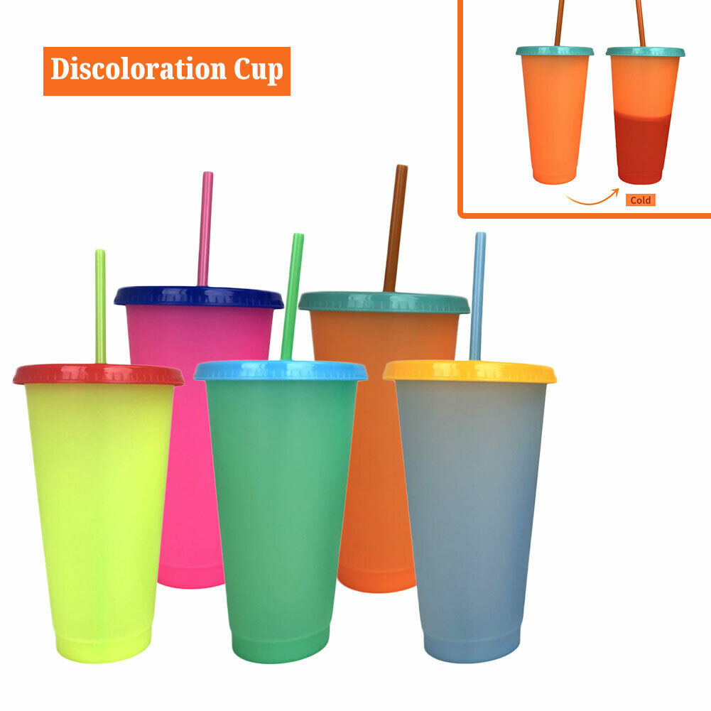 Plastic Cups with Straw 24oz