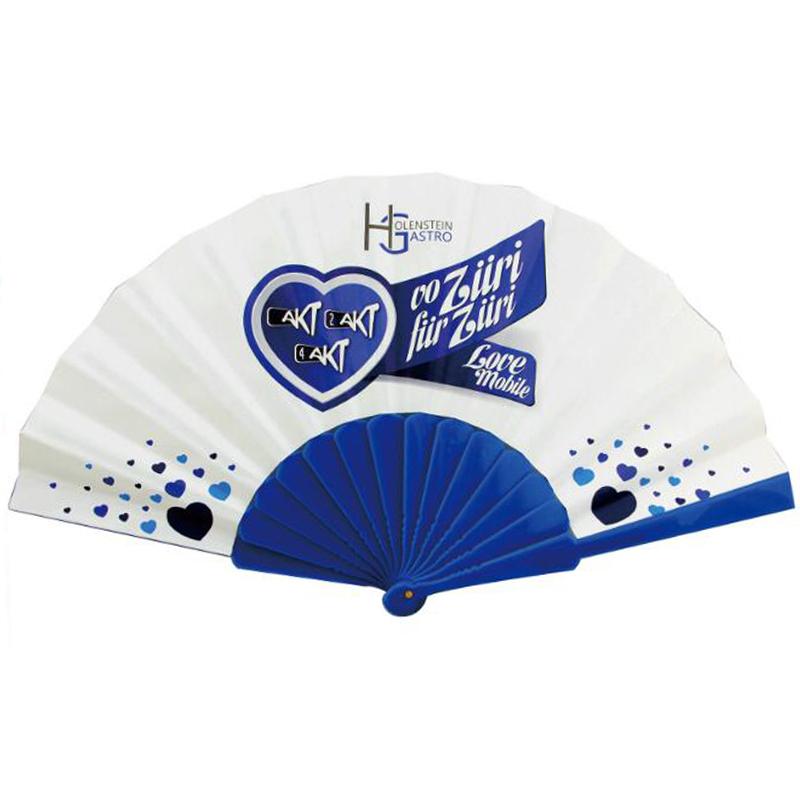 Promotional Advertising Custom Logo Printed Plastic Hand Fan