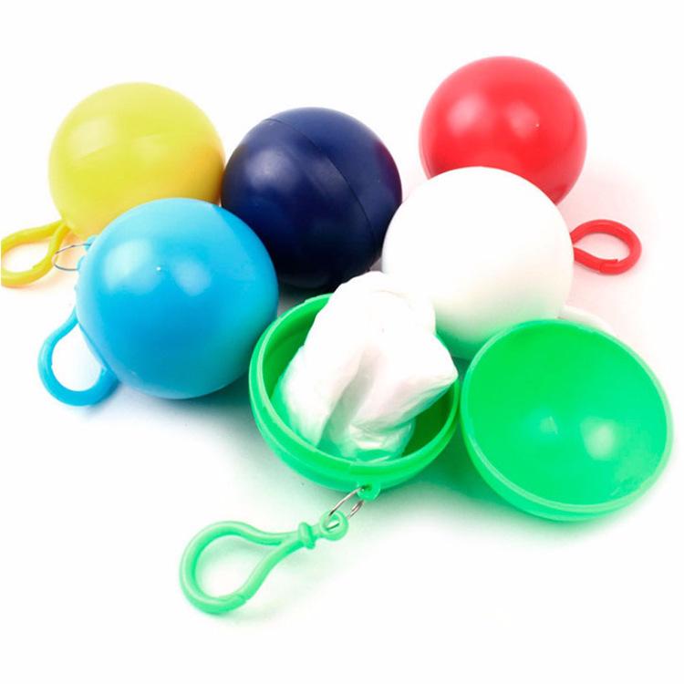 Rain Poncho in Ball Keychain