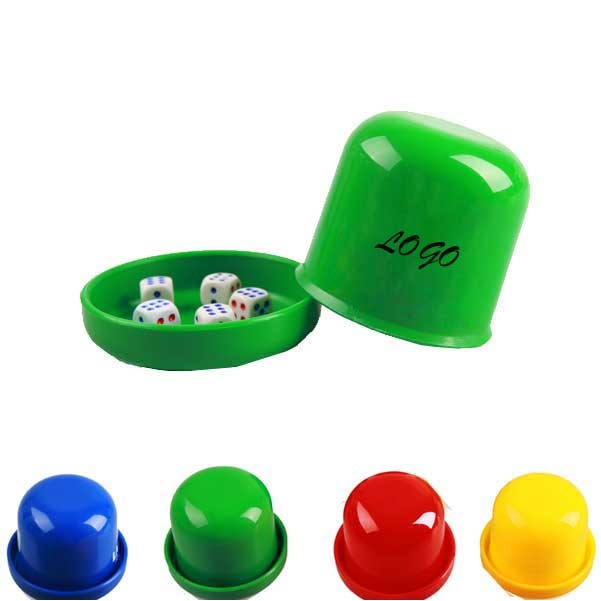 Plastic Dice Cup With Five Pieces Dice
