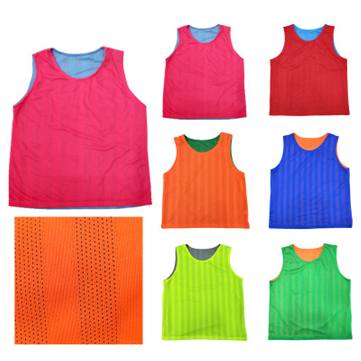 Double Layers Youth Soccer Practice Vest