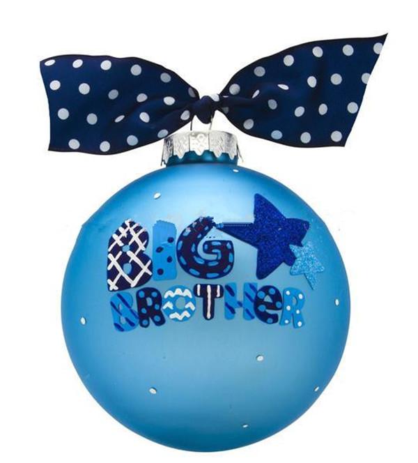 Glass Christmas Ball with Bow