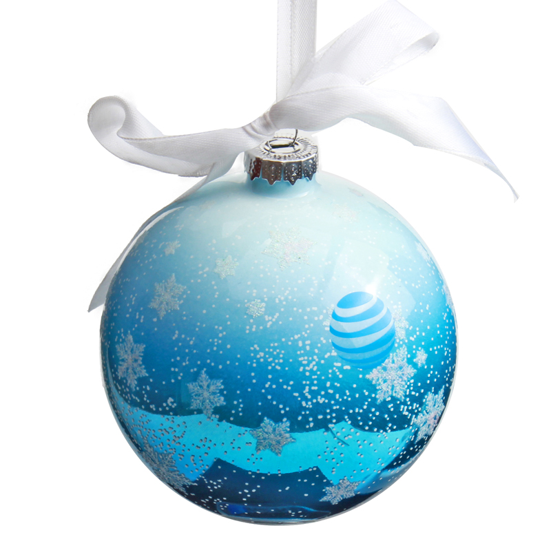 Glass Christmas Ball with Band
