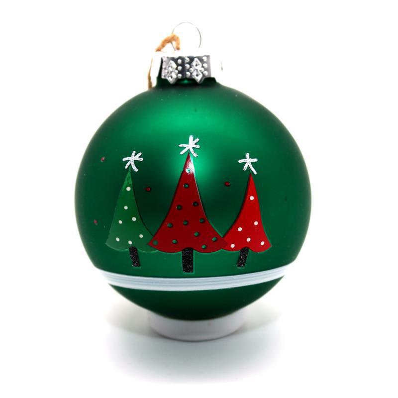 Glass Tree Design Christmas Ball