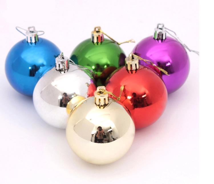 Colorful Plastic Christmas Ball