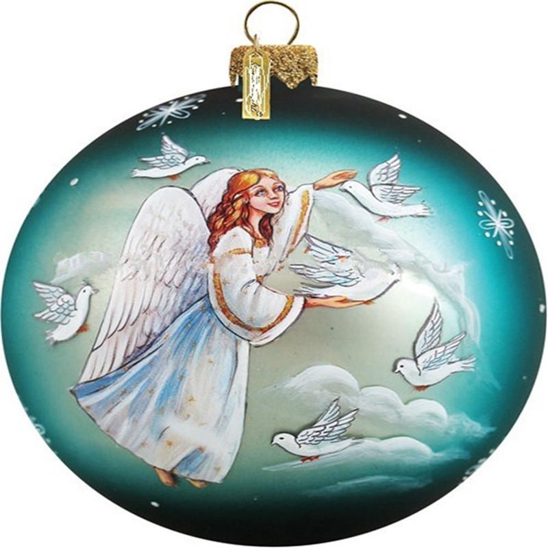 Glass Angel Design Christmas Ball