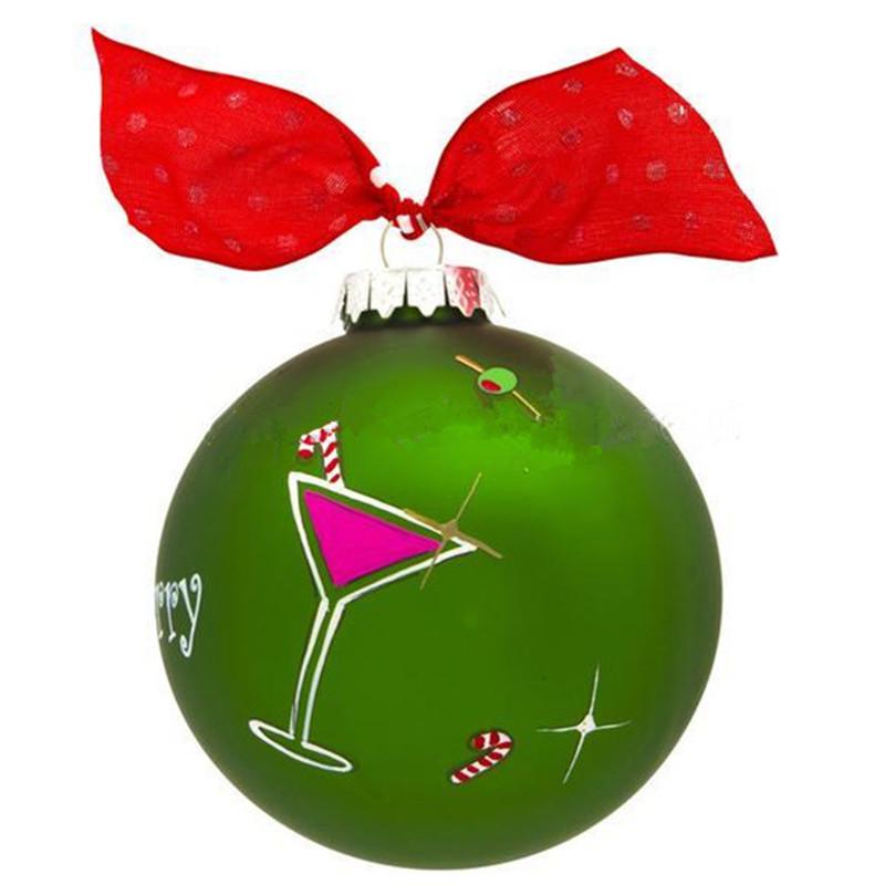 Green Glass Design Christmas Ball