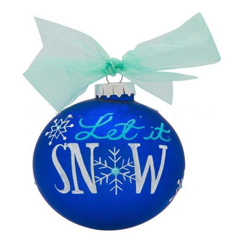 Glass Christmas Ball With Silk Ribbon