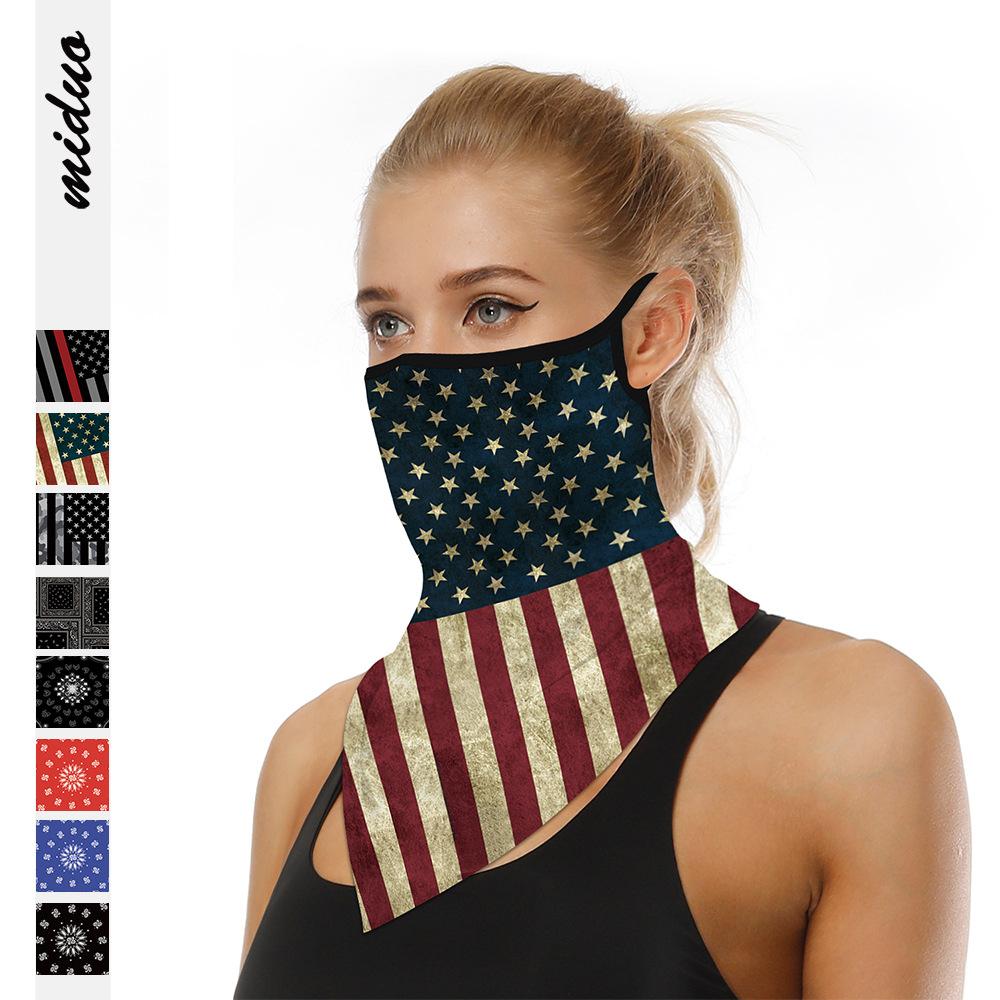 Polyester Earhook Full-Color Bandanna