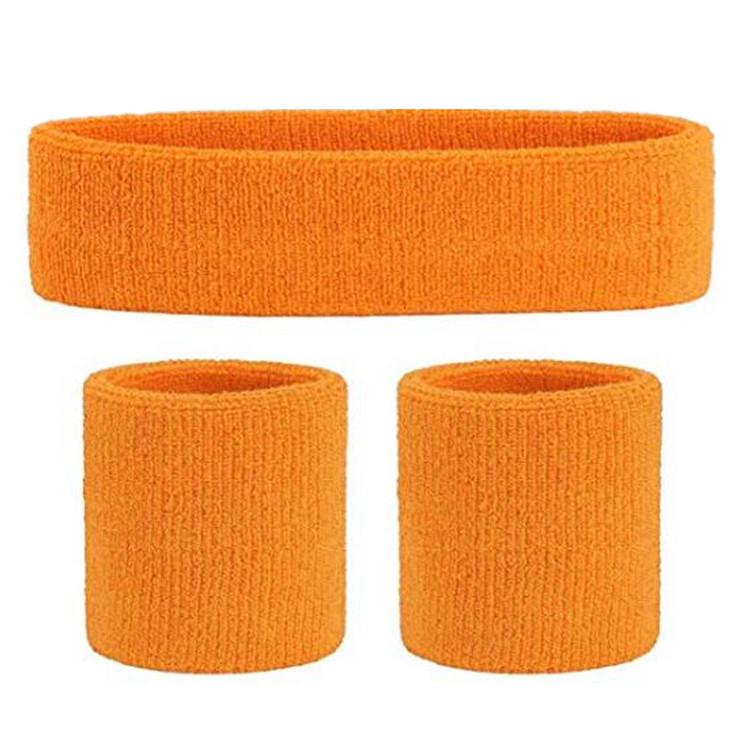 Terry Cotton Headband and Wristband Set